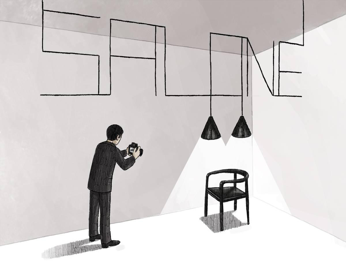 Salone Milano Illustration for Wallpaper* july 2013 by Danae Diaz