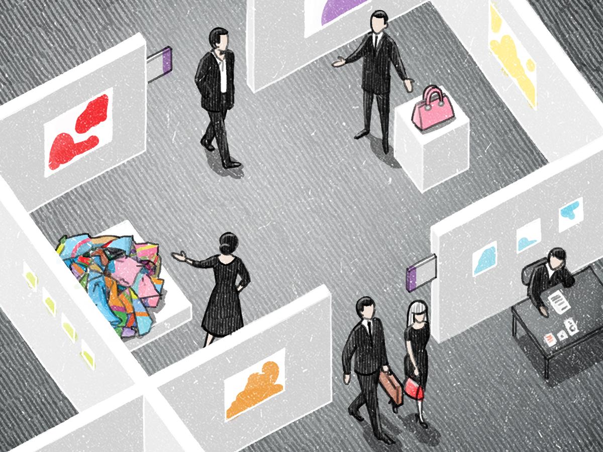 "Vinson View ""Frieze Art Fair"" Illustration for Wallpaper* november 2014 by Danae Diaz"