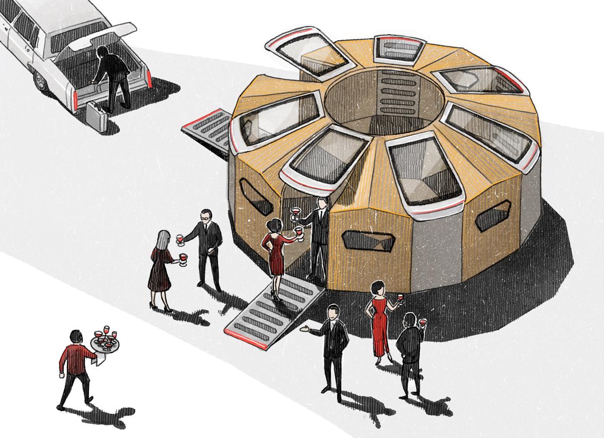 "Vinson View ""Audi Pavillion"" Illustration for Wallpaper* october 2014 by Danae Diaz"