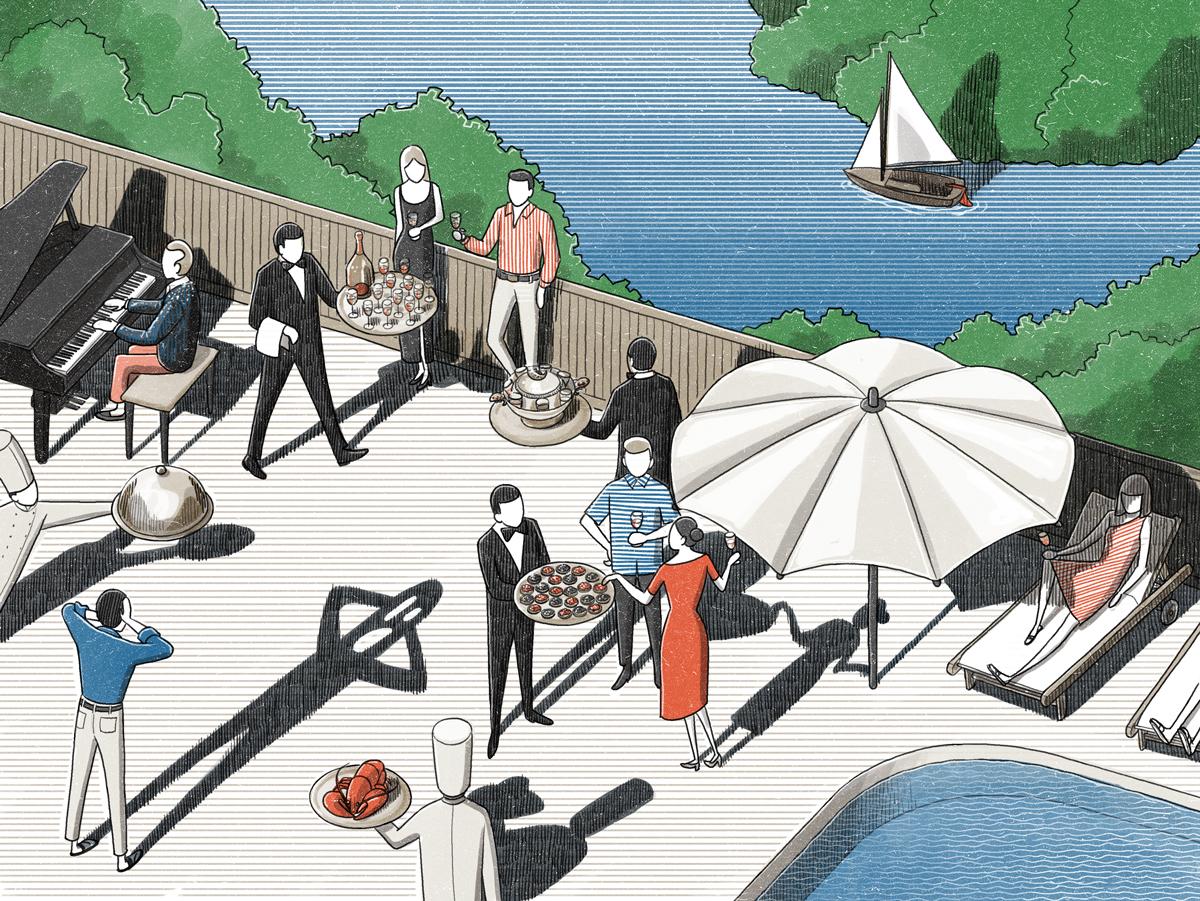 Vinson View Illustration for Wallpaper* october 2015 by Danae Diaz