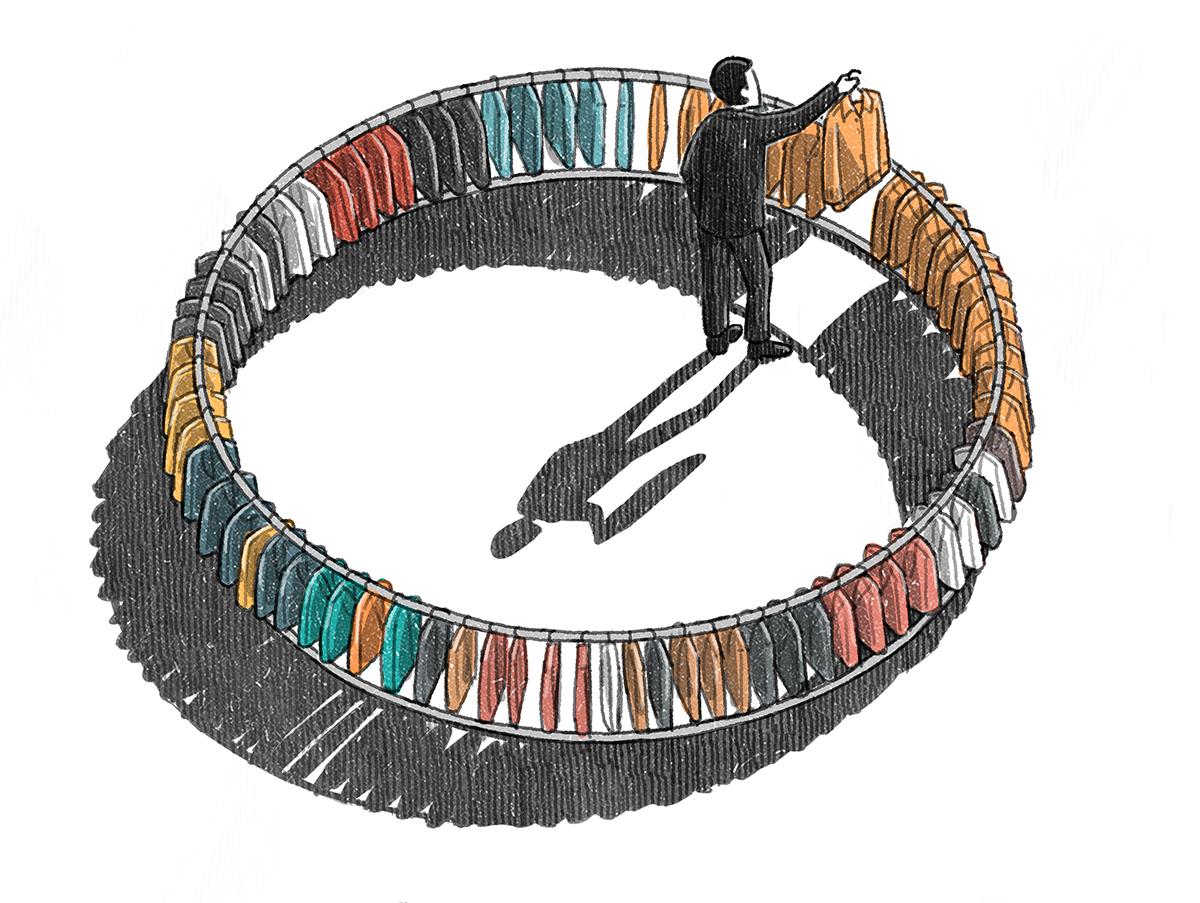 "Vinson View ""Choice"" Illustration for Wallpaper* september 2014 by Danae Diaz"