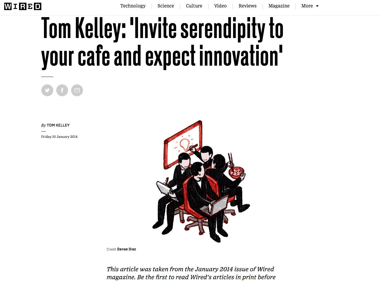 Invite serendipity to your café and expect innovation\