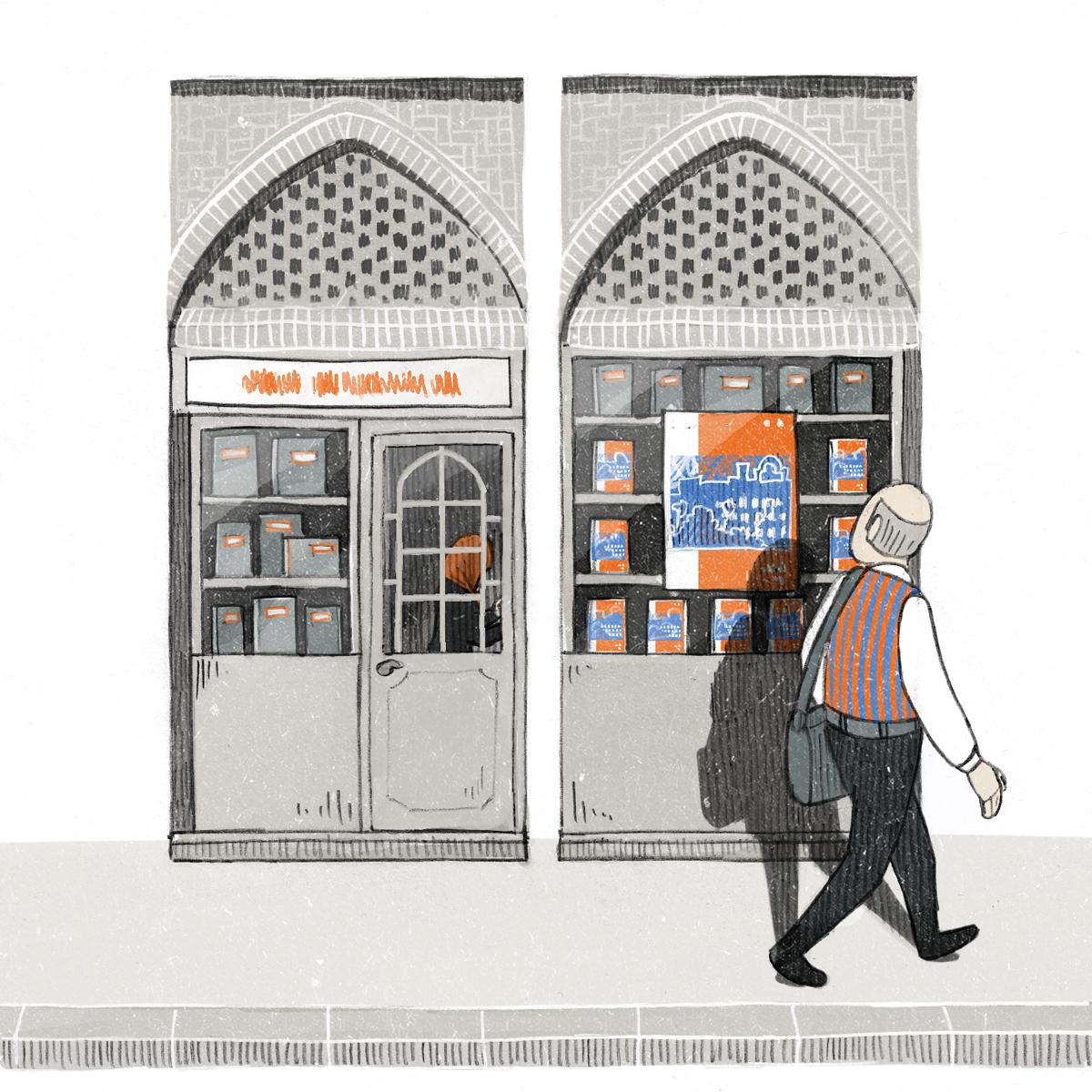 "Illustration for Campus NZZ 11/11/13 ""Bestsellerautor"" by Danae Diaz"
