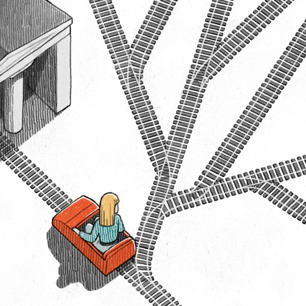"""Illustration for Campus NZZ 25/11/13 """"logischer  Weg"""" by Danae Diaz"""