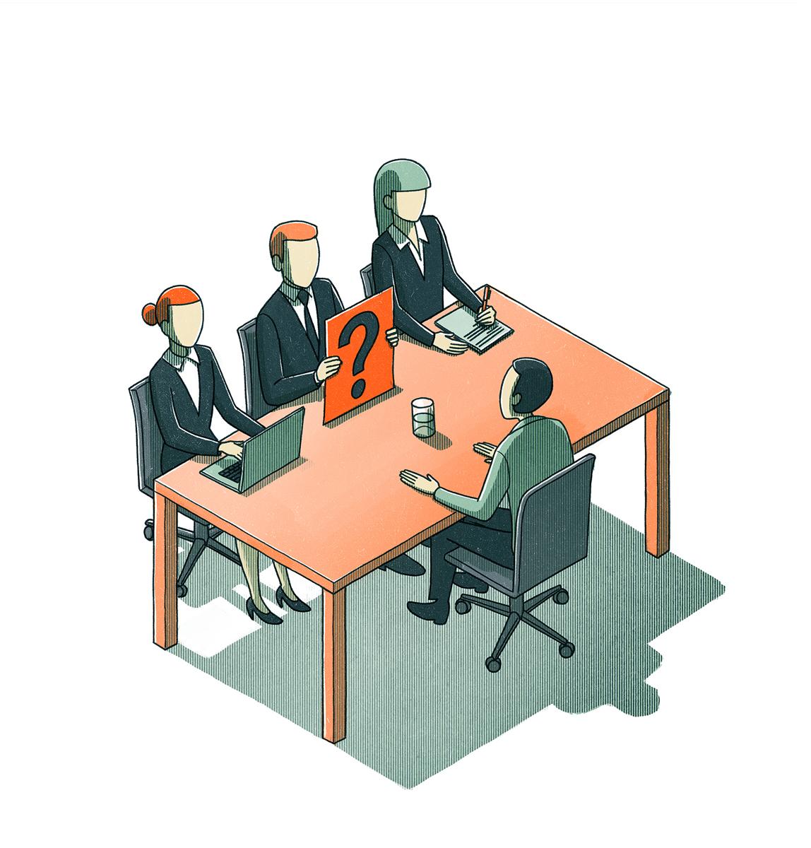 danae diaz, illustration, job interview