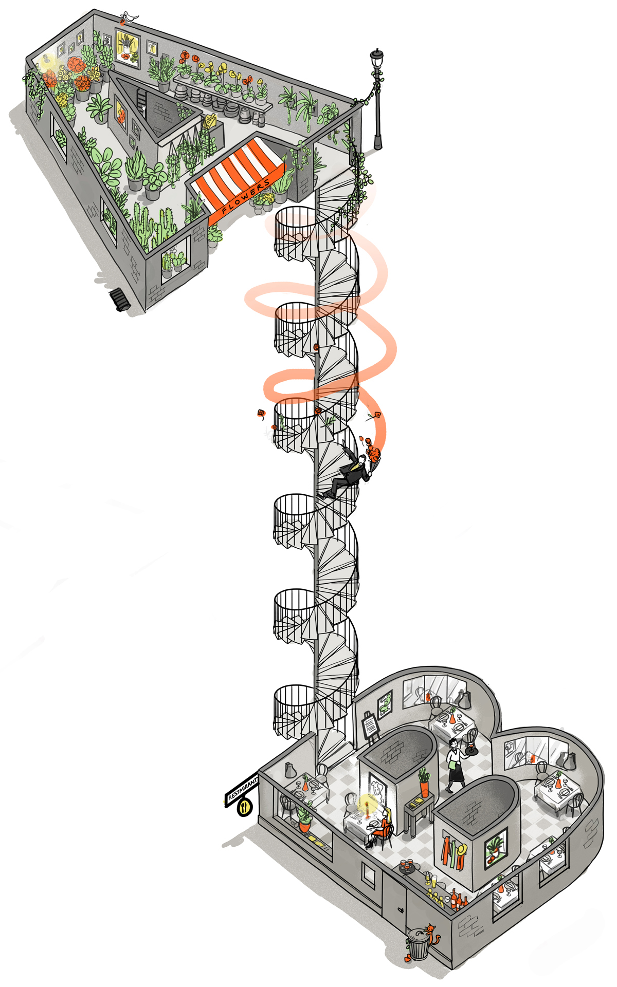danae diaz illustration UBER sketches